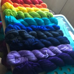 Judes Rainbow Mini Skein set